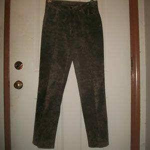 Brandon Thomas suede leather pants size 6